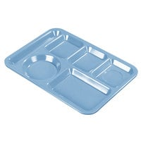 Carlisle 4398192 10 inch x 14 inch Sandshades Heavy Weight Melamine Left Hand 6 Compartment Tray