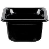 Vollrath 9064420 1/6 Size Black High Heat Food Pan - 4 inch Deep