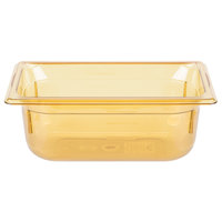 Vollrath 9044410 1/4 Size Amber High Heat Food Pan - 4 inch Deep