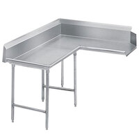 Advance Tabco DTC-K60-72 Super Saver 6' Stainless Steel Korner Clean L-Shape Dishtable