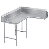 Advance Tabco DTC-K70-144 Standard 12' Stainless Steel Korner Clean L-Shape Dishtable