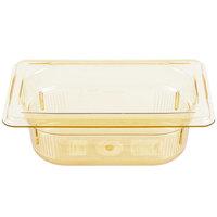 Vollrath 9092410 1/9 Size Amber High Heat Food Pan - 2 1/2 inch Deep