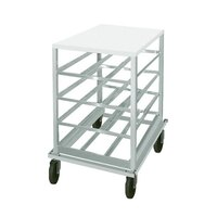 Advance Tabco CRPL10-54 Spec Line Half Size Mobile Aluminum Can Rack with Poly Top