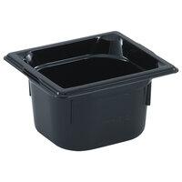 Vollrath 9092420 1/9 Size Black High Heat Food Pan - 2 1/2 inch Deep
