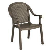 Grosfillex US720037 / 99720037 Sumatra Bronze Mist Classic Stacking Resin Armchair