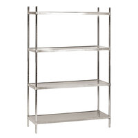 Advance Tabco SHC-1848 18 inch x 48 inch Solid Stainless Steel Shelving Combo