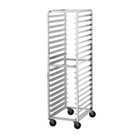 Advance Tabco DR20-3 Front Load Donut Screen Rack - 20 Screen Capacity