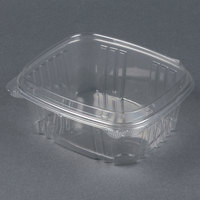 Genpak AD32F 7 1/4 inch x 6 3/8 inch x 3 inch  32 oz. Clear Hinged Deli Container with High Dome Lid - 100 / Pack