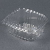 Genpak AD32F 7 1/4 inch x 6 3/8 inch x 3 inch 32 oz. Clear Hinged Deli Container with High Dome Lid - 100/Pack