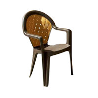 Grosfillex Amazona Highback Stacking Resin Armchair - Bronze Mist