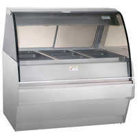 Alto-Shaam TY2SYS-48 SS Stainless Steel Heated Display Case with Curved Glass and Base - Full Service 48 inch
