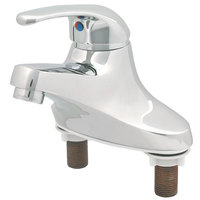 T&S B-2711-WS WaterSense Deck Mount Centerset Single Lever Faucet with 4 inch Centers, Temperature Limit Adjustment, and Cerama Cartridge