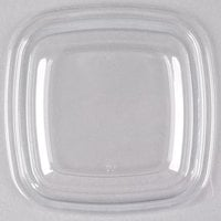 Sabert 51500B500 Bowl2 Clear Flat Lid for 8, 12, and 16 oz. Square Bowls - 500/Case