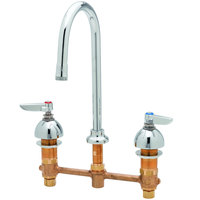 T&S B-2852 Deck Mount Easy Install Faucet with 8 inch Centers, 12 3/8 inch Gooseneck, and Eterna Cartridges