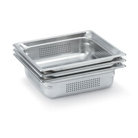 Vollrath 90013 Super Pan 3® Full Size Anti-Jam Stainless Steel Perforated Steam Table Pan - 1 1/2 inch Deep