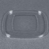 Sabert 51800B300 Bowl2 Clear Flat Lid for 24, 32, and 48 oz. Square Bowls   - 300/Case