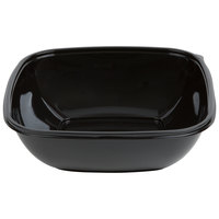 Sabert 99064B150 Bowl2 64 oz. Black Square Deli / Catering Bowl   - 150/Case