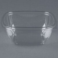 Sabert 15012B500 Bowl2 12 oz. Clear PETE Square Deli / Catering Bowl - 500 / Case