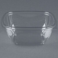 Sabert 15012B500 Bowl2 12 oz. Clear PETE Square Deli / Catering Bowl   - 500/Case