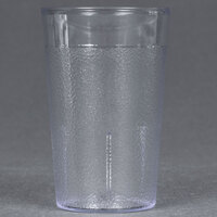 Carlisle 550107 Stackable 5 oz. SAN Plastic Clear Tumbler - 72/Case