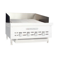 Bakers Pride G1237X Countertop Charbroiler Stainless Steel Splashguard