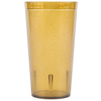 Carlisle 521613 Stackable 16 oz. Amber SAN Plastic Tumbler - 72/Case