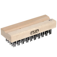 FMP 133-1173 7 3/4 inch Coarse Bristle Grill / Broiler Cleaning Brush Head