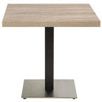 Grosfillex US181009 Indoor Contemporary 18 inch x 18 inch Square Pedestal Table Base