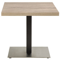 Grosfillex US281209 Indoor Contemporary 16 inch x 28 inch Single Pedestal Table Base