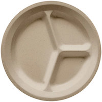 GET CP-532-S Sandstone 11 inch SuperMel Three Compartment Plate - 12 / Case