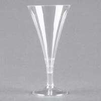 Fineline Tiny Temptations 6414-CL 2 oz. Tiny Barware Clear Plastic 2-Piece Champagne Flute - 12/Pack