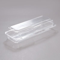 Dart Solo C60UT1 StayLock 14 3/8 inch x 5 1/2 inch x 3 1/8 inch Clear Hinged Plastic 14 inch Strudel or Hoagie Container - 250/Case