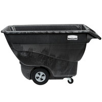 Rubbermaid FG101300BLA Black 0.75 Cubic Yard Tilt Truck (1000 lb.)
