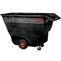 Rubbermaid FG9T1500BLA Black 1.0 Cubic Yard Tilt Truck (1250 lb.)