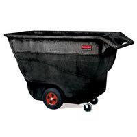 Rubbermaid FG9T1500BLA Black 1.0 Cubic Yard Tilt Truck (1250 lbs)