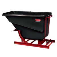 Rubbermaid FG106900BLA Black 2.0 Cubic Yard Self Dumping Hopper (1000 lb.)
