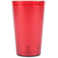 Carlisle 553210 32 oz. Ruby SAN Plastic Stackable Tumbler - 48/Case