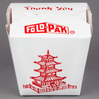 Fold-Pak 32MWPAGODM 32 oz. Pagoda Chinese / Asian Microwavable Paper Take-Out Container - 50/Pack