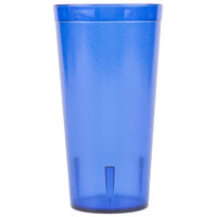 Carlisle 522047 20 oz. Royal Blue SAN Plastic Stackable Tumbler - 72/Case