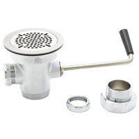 T&S B-3940-XS Rotary Waste Valve with Short Twist Handle, 3 inch Sink Opening, and Adapter