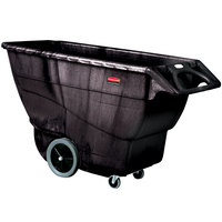 Rubbermaid FG9T1600BLA Black 1.0 Cubic Yard Tilt Truck (2100 lb.)