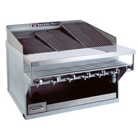 Bakers Pride CH-6GS Natural Gas 33 inch 6 Burner Heavy Duty Glo-Stone Charbroiler - 108,000 BTU