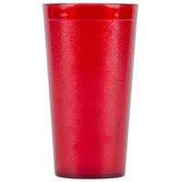 Carlisle 5116-210 Stackable 16.5 oz. Ruby Polycarbonate Tumbler - 24 / Case