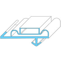 All Points 74-1219 Magnetic Door Gasket - 25 1/4 inch x 70 inch