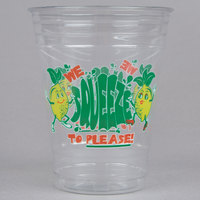 16 oz. Plastic We Squeeze to Please! Lemonade Cup - 1000/Case