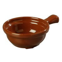 Carlisle 700628 Lenox Brown 8 oz. Handled Soup Bowl - 24 / Case