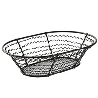 American Metalcraft WSB69 9 inch x 6 inch Wavy Sided Mesh Bottom Basket