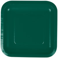 Creative Converting 453262 7 inch Hunter Green Square Paper Lunch Plate - 180/Case
