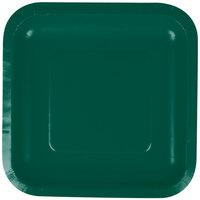 Creative Converting 453262 7 inch Hunter Green Square Paper Plate - 180/Case