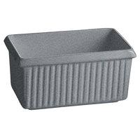 Tablecraft CW1510GR 2.25 Qt. Granite Cast Aluminum Rectangle Server with Ridges